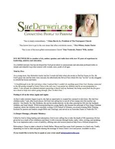 Bio - Sue Detweiler
